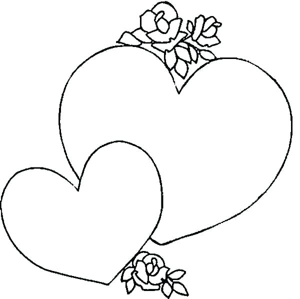 600x598 Heart Print Out Coloring Pages