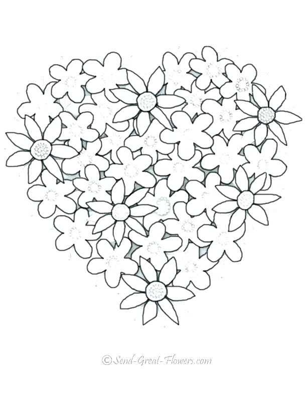 612x792 Printable Hearts To Color Coloring Printable Broken Heart Coloring