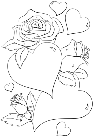 333x480 Roses Hearts Coloring Pages Coloring Pages
