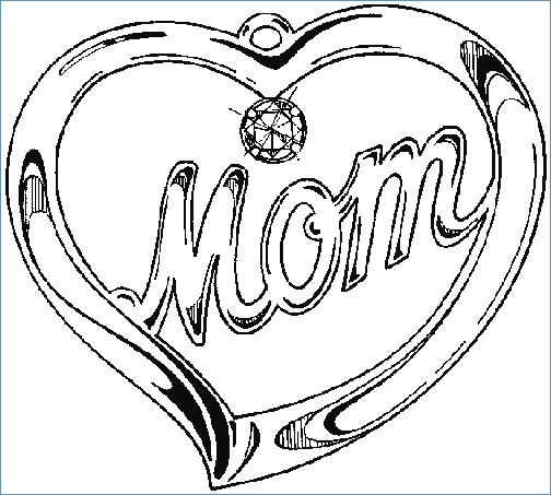 504x453 Two Hearts Coloring Pages