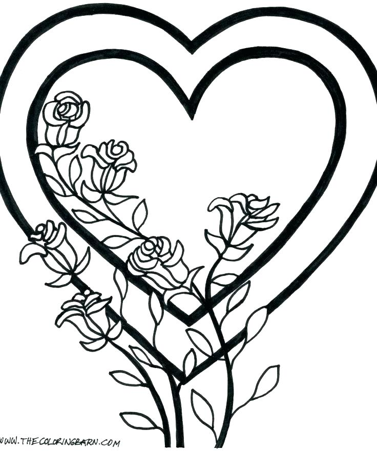 736x881 Coloring Pages Print Out Free Coloring Broken Heart Coloring Pages