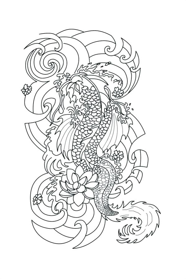 599x899 Tattoo Coloring Pages Tattoo Coloring Hand Drawn Dragon Tattoo