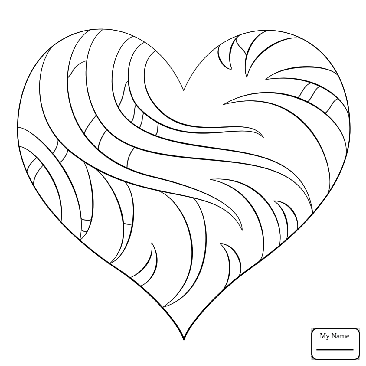 1210x1210 Coloring Pages For Kids Arts Culture Fancy Heart Hearts On Heart