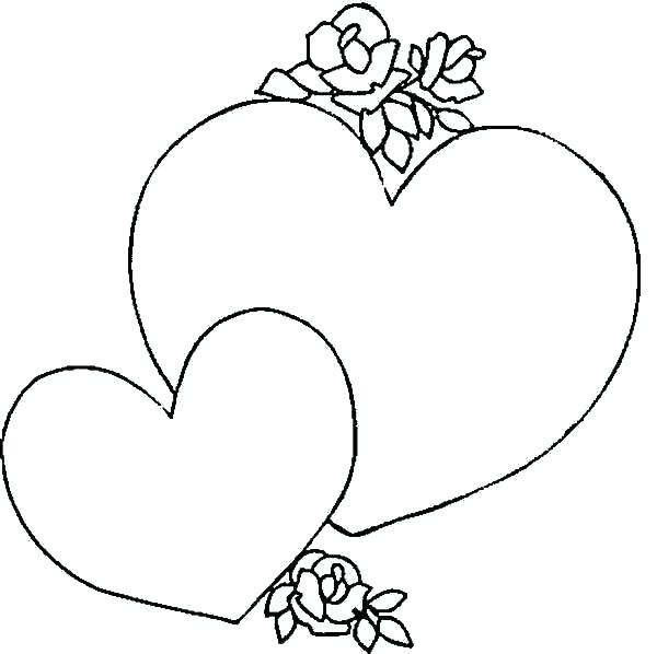 600x598 Coloring Pages Of Flowers And Hearts Heart Coloring Pages Arrow