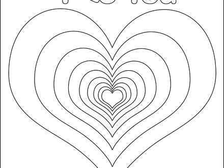440x330 Coloring Pages Of Hearts Arrows Coloring Pages Of Hearts