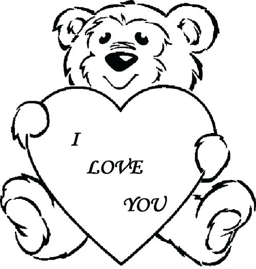 500x526 Coloring Pages With Hearts Color Pages Of Hearts Heart With Arrow