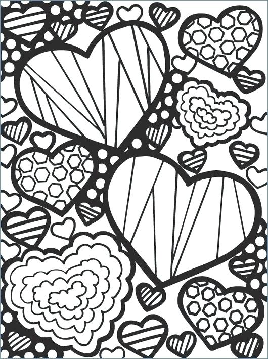 530x710 Heart Withrrow Coloring Pages Best Valentine S Day Images