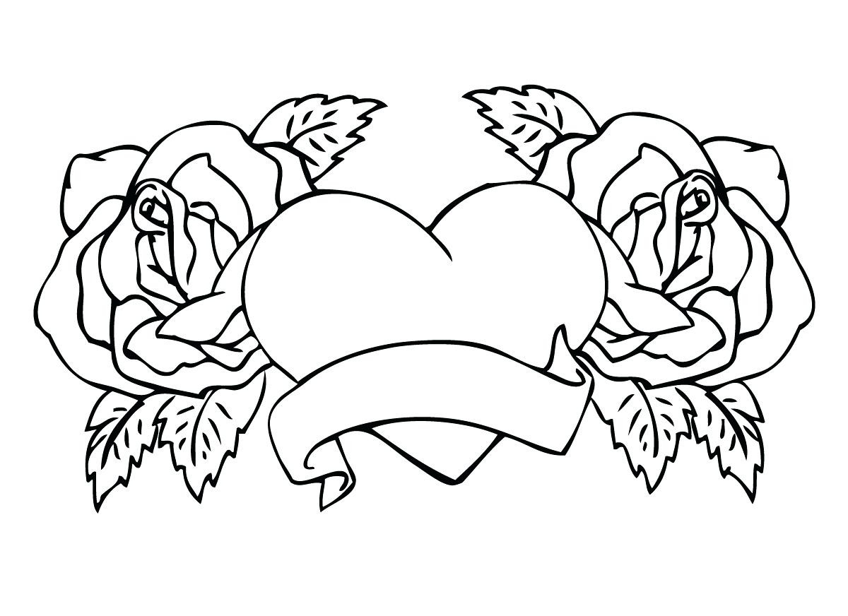 1200x872 Hearts Arrows Coloring Pages Hellokids Com Best Heart With Wings