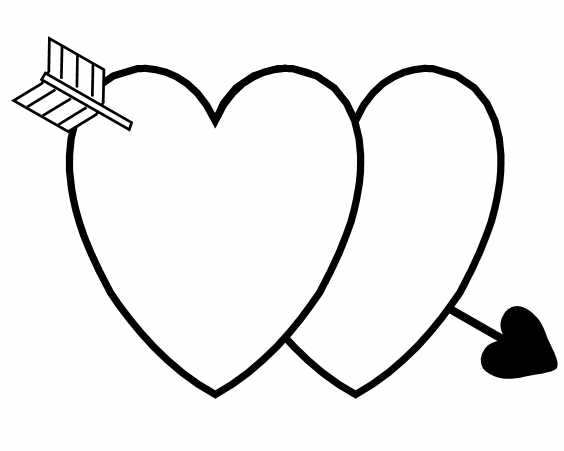564x451 Valentine's Day Coloring Pages