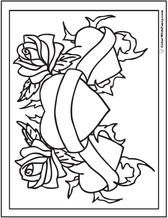590x762 Valentines Day Heart And Arrow Coloring Page Printable Coloring