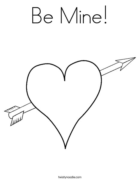 468x605 Be Mine Coloring Page