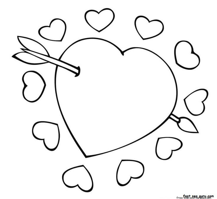 736x675 Best Photos Of Heart With Arrow Coloring Pages