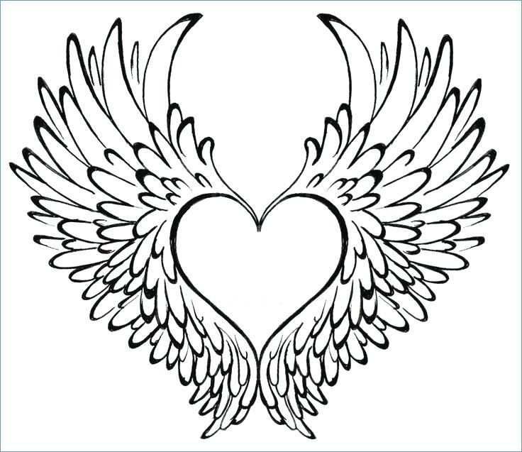 736x637 Coloring Page Flower Heart Two Loving Hearts Free Pages With Wings