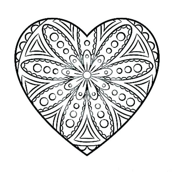 600x600 Coloring Pages Of A Heart Simple Heart Coloring Pages Heart