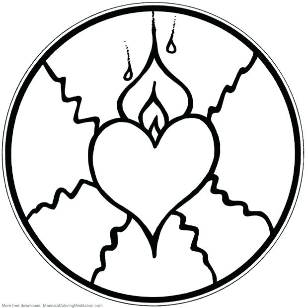 618x619 Coloring Pages Of Hearts On Fire