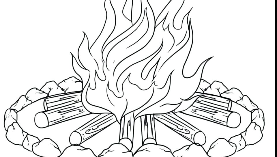 960x544 Flames Coloring Pages Coloring Pages Fire Printable Of Kids Heart