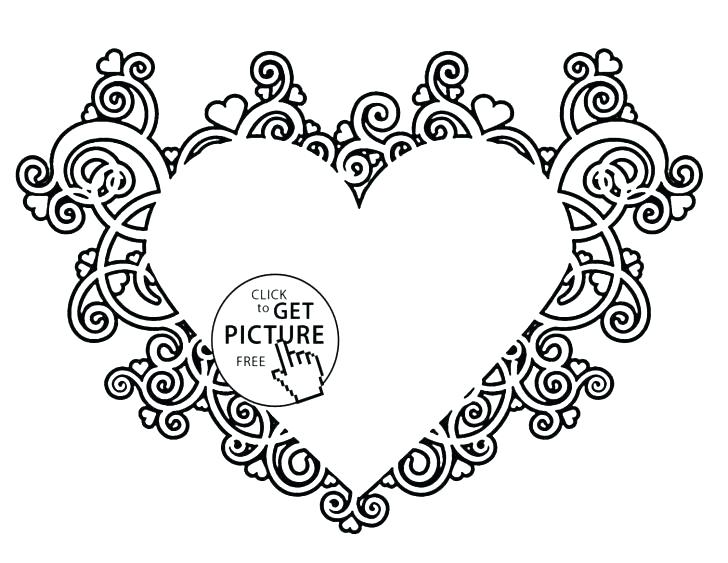 728x563 Hearts With Wings Coloring Pages Coloring Pages Hearts And Roses