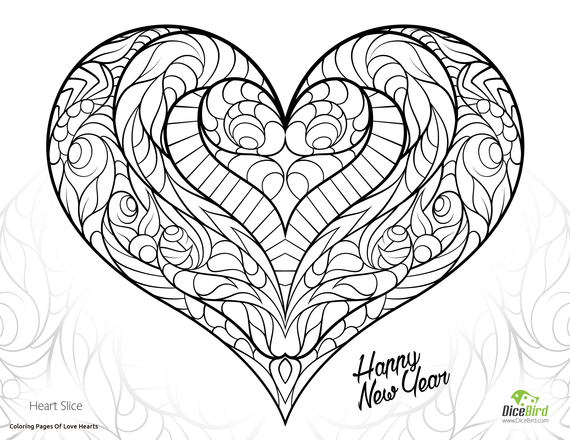 2376x1836 Printable Children Coloring Page Fire Heart Mandala