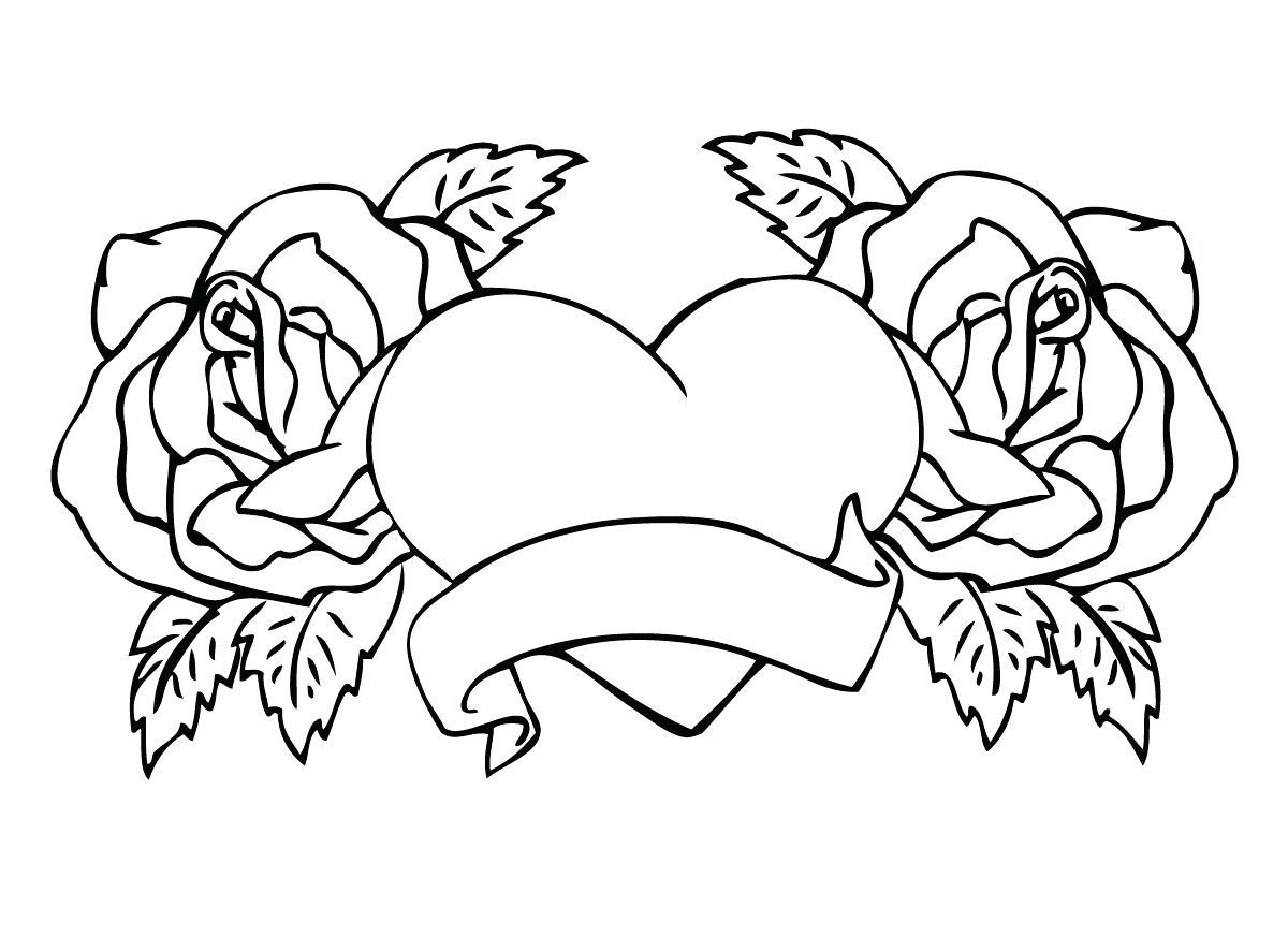 1200x872 Heart With Wings Coloring Page Pages Hearts
