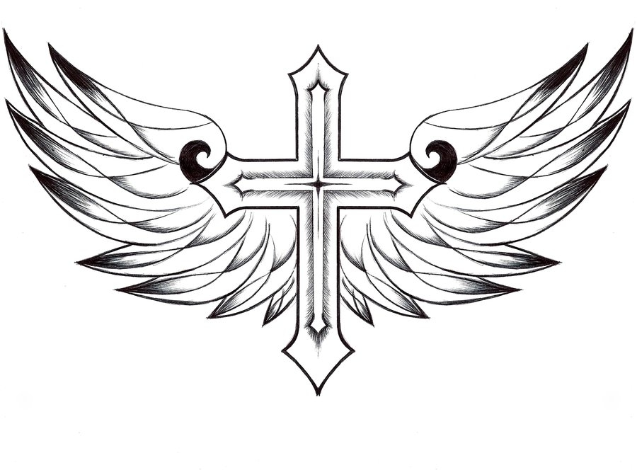 900x664 Hearts And Crosses Coloring Pages Heart With Wings Coloring Pages