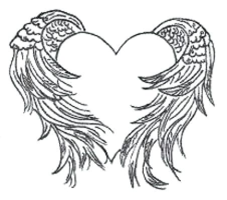 452x400 Hearts With Wings Coloring Pages Feminine Angel Wing Tattoo