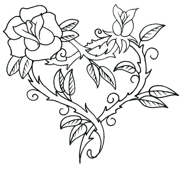 600x581 Hearts With Wings Coloring Pages Roses Hearts With Wings Coloring