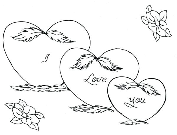 Hearts And Roses Coloring Pages Printable at GetDrawings.com | Free ...
