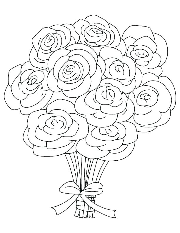 612x792 Coloring Pages Of Roses And Hearts Roses And Hearts Coloring Pages