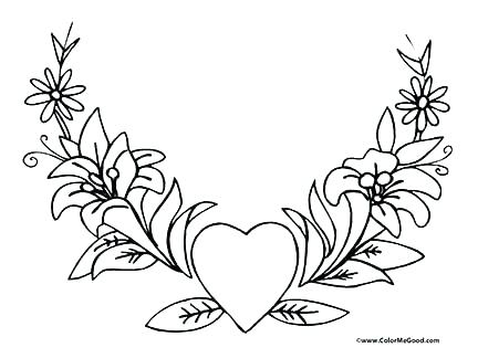 432x324 Coloring Pictures Of Roses Rose Coloring Pages Games Archives Best