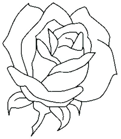 400x457 Rose Coloring Pages Coloring Pages Roses And Hearts Co Rose