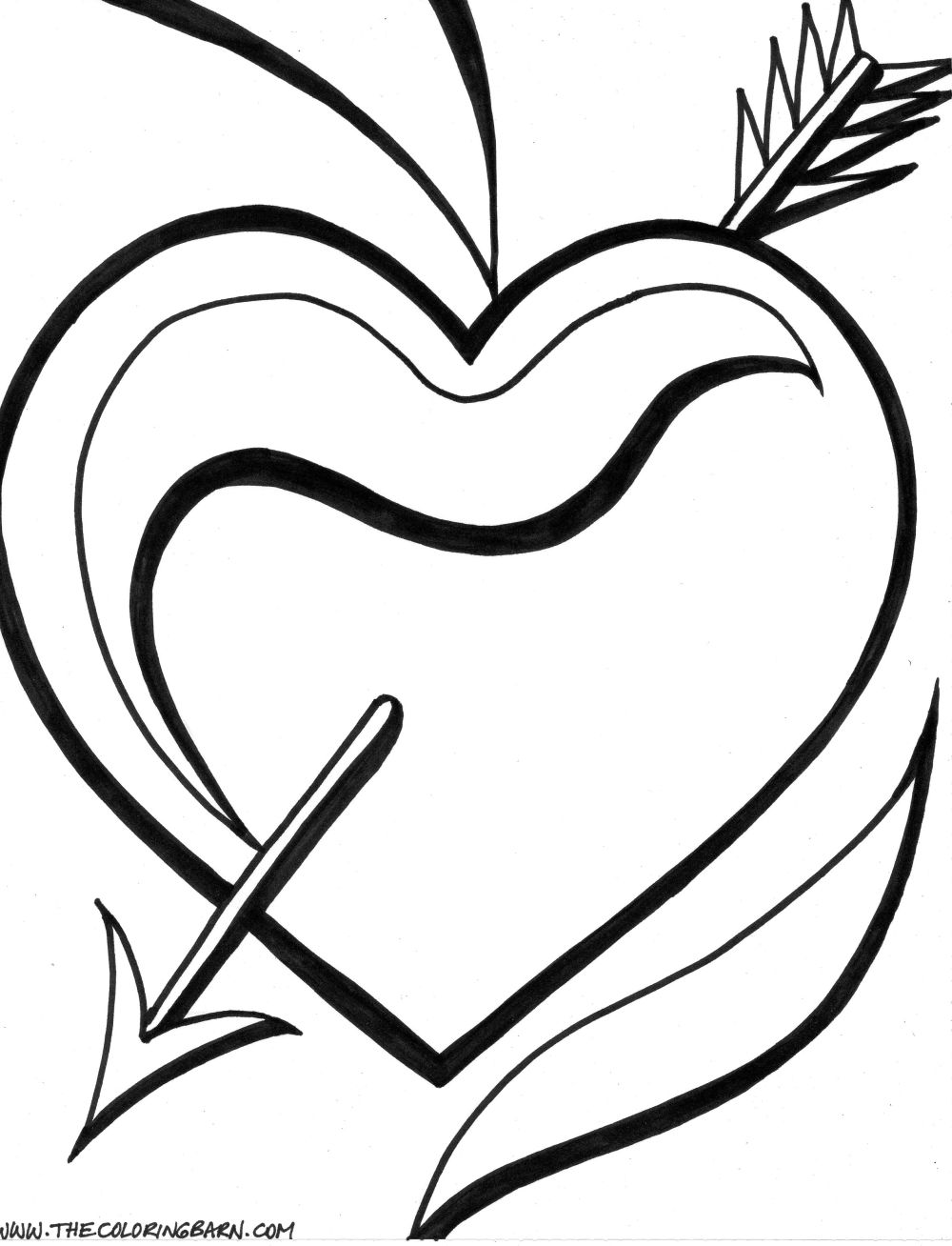 1000x1308 Heart Coloring Pages And Heart Coloring Page Roses Valentine