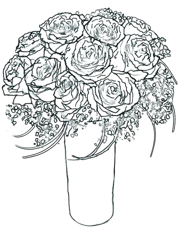 600x776 Coloring Pages Hearts And Roses Coloring Page Rose Coloring Pages