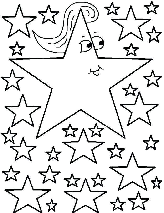 688x891 Coloring Pages Star Coloring Pages Star Free Printable Stars