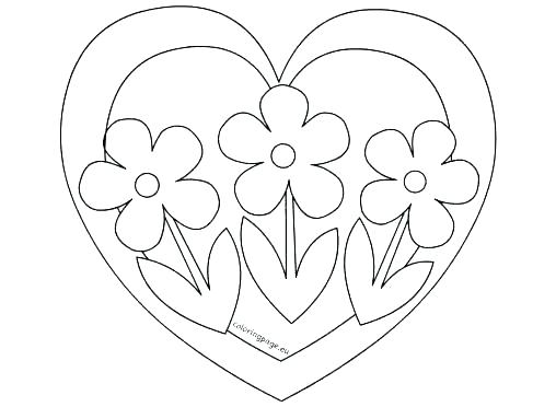508x372 Coloring Pictures Of Hearts Hearts Coloring Page A Free Girls