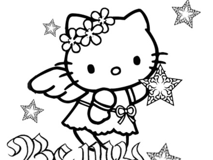 440x330 Hello Kitty Valentines Coloring Pages, Hello Kitty Valentine