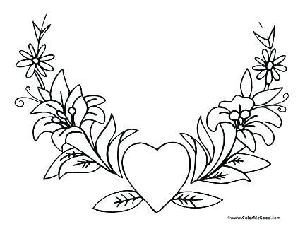432x324 Love Heart Coloring Pages Coloring Pages Flowers And Hearts Hearts