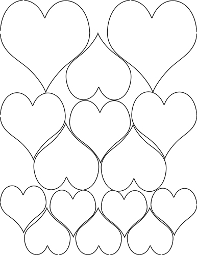 386x500 Free Coloring Pages Hearts And Stars
