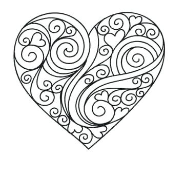 361x345 Coloring Pages For Adults Hearts