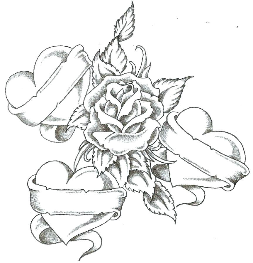 863x896 Coloring Pictures Of Roses And Hearts Coloring Pictures Of Roses