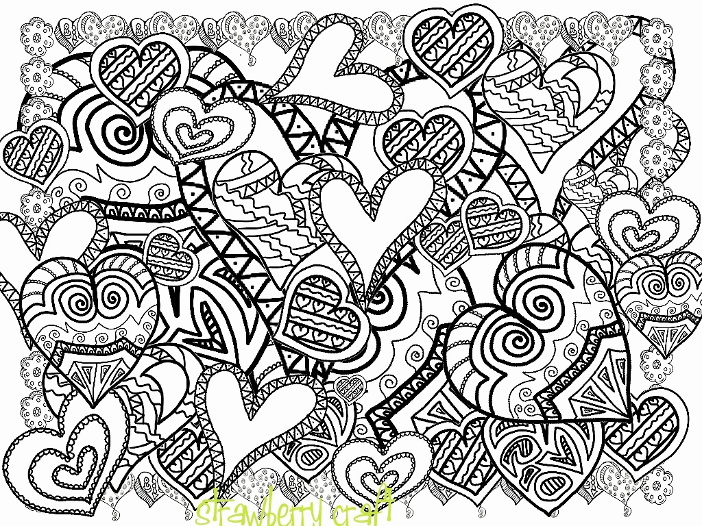 1024x768 Easter Coloring Pages For Adults Unique Zentangle Inspired Hearts