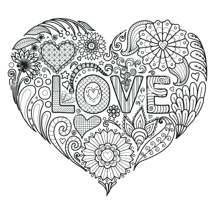 736x721 Flowers And Hearts Coloring Pages Flowers And Hearts Coloring