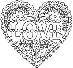 236x220 Hearts Coloring Pages