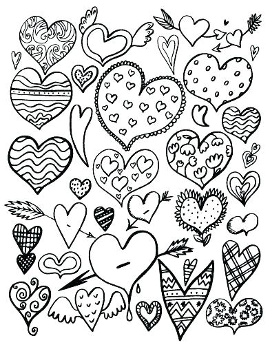 392x507 Human Heart Coloring Page Human Heart Coloring Pages As Heart