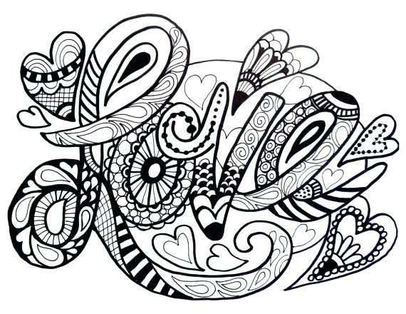 570x440 Love Coloring Pages For Adults Awesome Heart Coloring Page Image