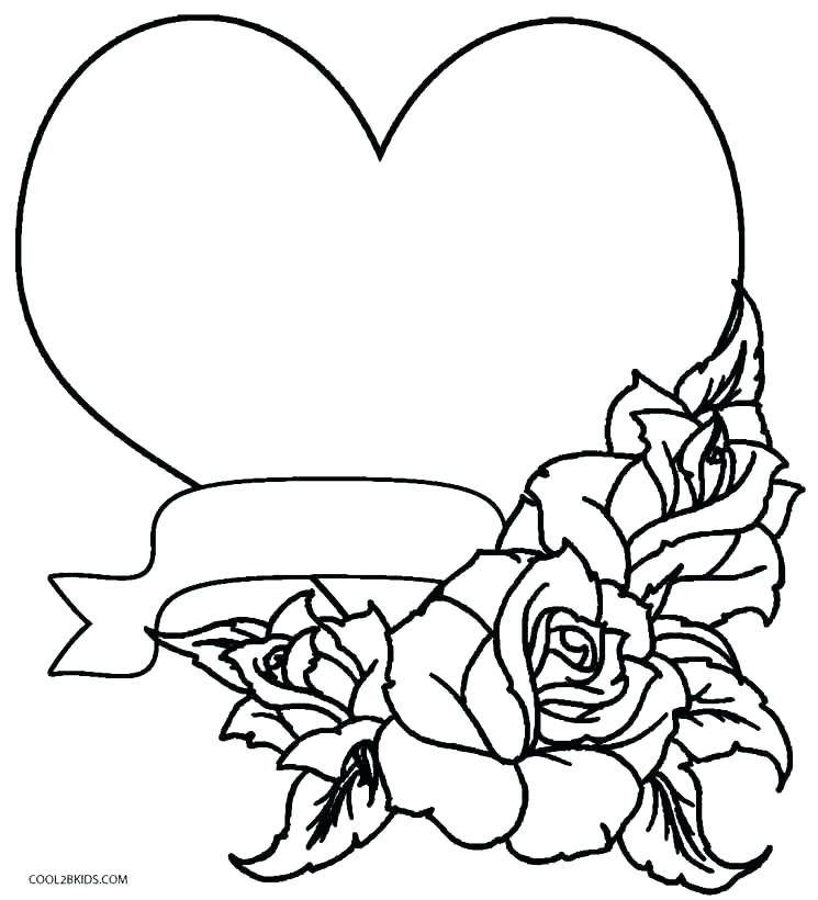 745x820 Printable Heart Coloring Pages Adults Cool Hearts And Roses