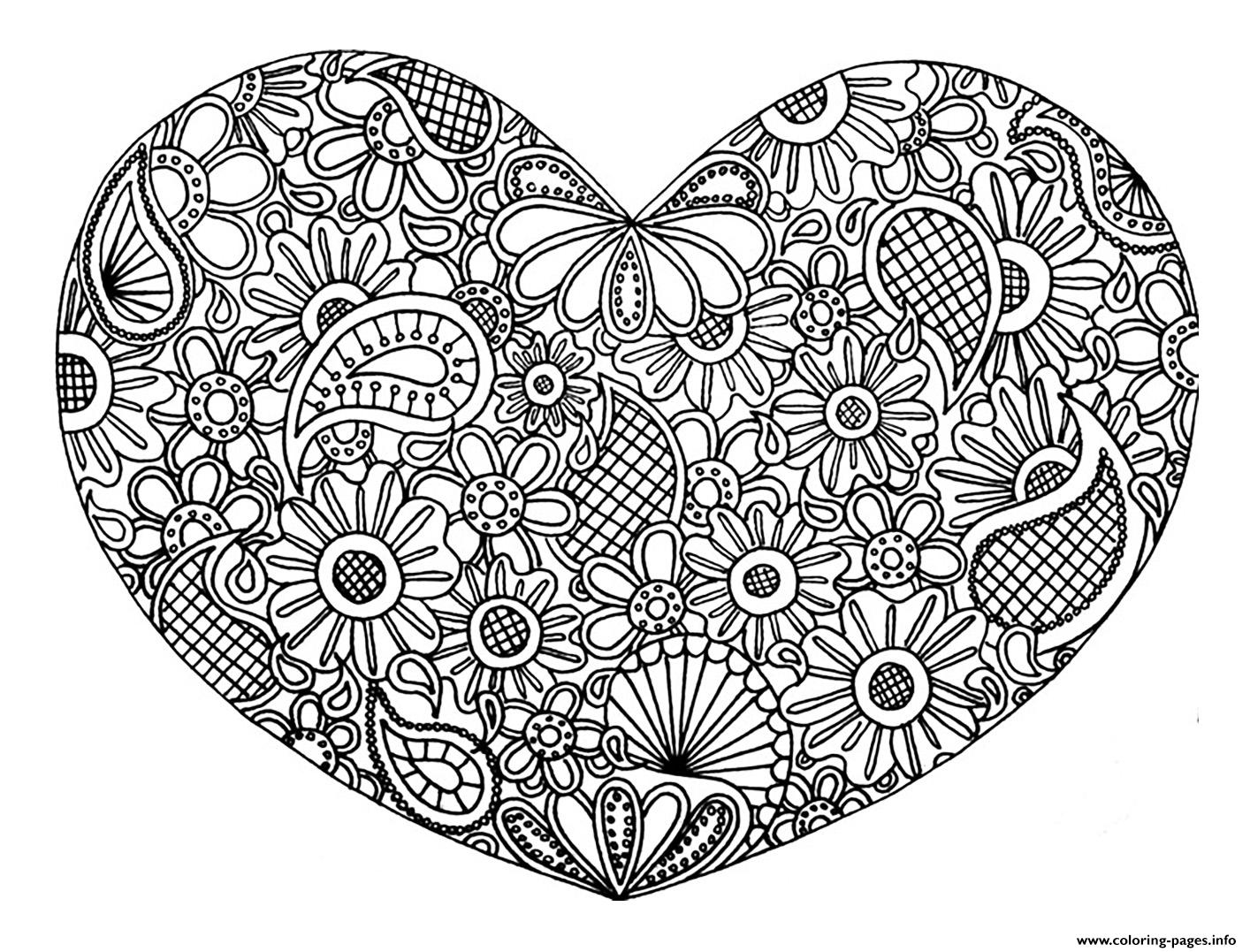 1414x1077 Printable Valentines Heart Coloring Pages Valentine Hearts Pages