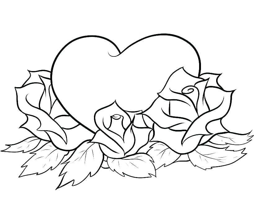 819x690 Printable Hearts To Color