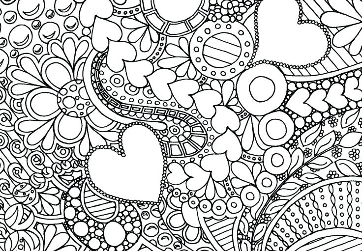 736x511 Adult Coloring Pages Free Intricate Hearts Colouring Pages