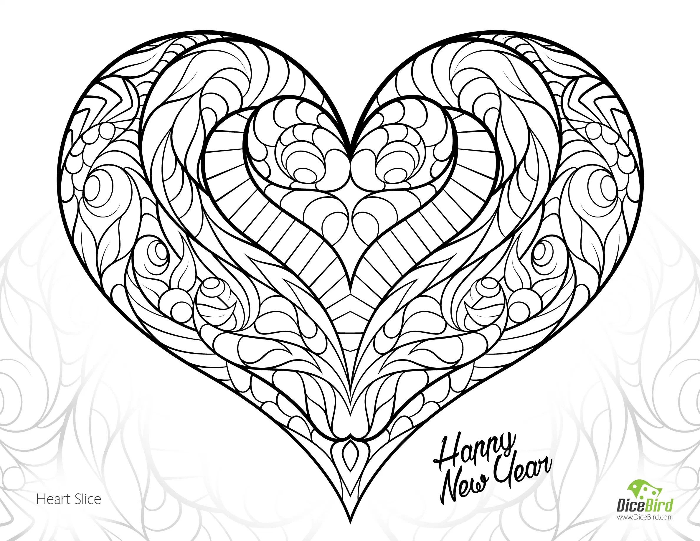 2376x1836 Coloring Pages Adults Hearts