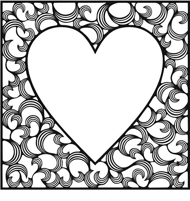 623x661 Valentines Day Coloring Pages For Adults